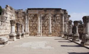 Kapernaüm, ruïnes, Meer van Galilea, Israël