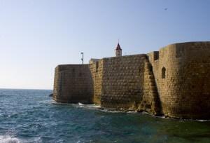Akko, stadsmuur, vakantie in Israël