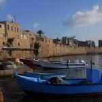 Akko vissershaven, vakantie in Israël, bootjes, zee