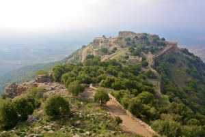 Golanhoogten, Israël, ruïnes, Nimrod