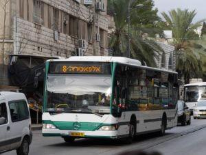 vervoer, bus, vakantie in Israël