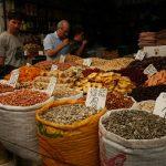 Netanya, markt, vakantie in Israël